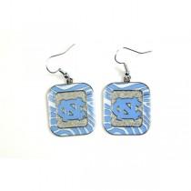 UNC Tarheels Earrings - The ZEBRA Dangle - 12 Pair For $30.00