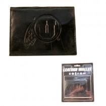 Utah Utes Wallets - Black Tri-Fold Leather Wallets - 12 For $84.00