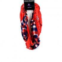Virginia Cavaliers Scarves - Tartan Logo Infinity Scarves - 12 For $60.00