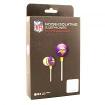 Package Change - Minnesota Vikings Headphones - Black Box - IHIP Earbuds - 12 For $30.00