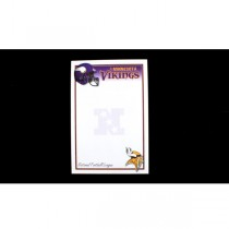 """Minnesota Vikings Note Pads - 40 Sheets Per Pad - 5""""x8"""" - 24 Pads For $12.00"""
