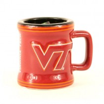 Virginia Tech Shotglass - 2OZ Sculpted Mug (Pattern May Be Different Than Pictured) - 12 Shotglasses For $39.00