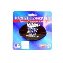 Washington Huskies Merchandise - Football Style Snack/Fridge Magnetic Clips - 12 For $24.00