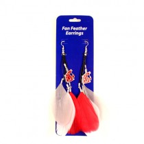 Washington State Earrings - Dangle Feather Style - $2.75 Per Pair