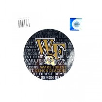 """Wake Forest Magnets - 4"""" Round Wordmark Style - 12 For $12.00"""