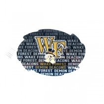 """Wake Forest Magnets - 5"""" Swirl Wordmark Style - 12 For $18.00"""