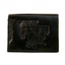 Wake Forest Wallets - BLACK Tri-Fold - Leather Wallets - $7.50 Each