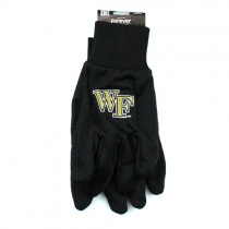 Wake Forest Gloves - Black Palm Series - Grip Gloves - 12 Pair For $36.00