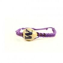 Washington Huskies Merchandise - Single Nut Macramé Bracelets - 12 For $30.00