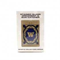 Washington Huskies Ornament - Stained Glass Suncatcher Style Ornament - 12 For $30.00