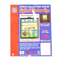 Jacksonville Jaguars Merchandise- Welcome To Jaguar Country Lighted Window Signs - 2 For $15.00