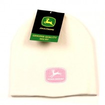 Overstock - John Deere - White Beanies With Pink Logo - 12 For $36.00
