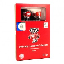 Wisconsin Badgers Merchandise - IHIP EarBuds - 12 EarBuds For $54.00