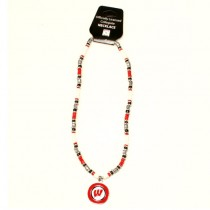 "Wisconsin Badgers Necklaces - 18"" Natural Stone Necklaces - 12 Necklaces For $84.00"
