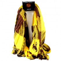 University Of Wyoming Scarves - Buffalo Check Style - 2 For $15.00