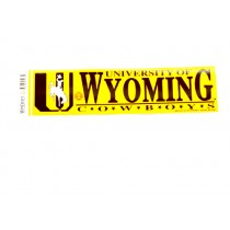 """Blowout - University Of Wyoming Bumper Stickers - 3""""x12"""" - Win Style - 12 For $12.00"""