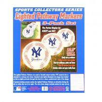 New York Yankees Lights - 3PC Pathway Marker Set - $10.00 Per Set