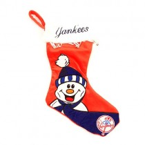 Overstock - New York Yankees Stockings - HAPPY Snowman Stockings - 4 For $20.00