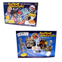 Anatomy Adventure - Learning Games - Bone Box Bazaar - 12 Games For $48.00