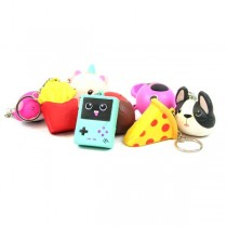 Skwishys - Assorted Style Skwishy Keychains - May Not Be As Pictured - 48 For $36.00