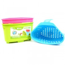 Hand Strainer - Assorted Color Plastic Hand Strainer - 36 For $25.20