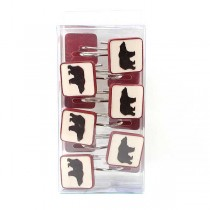 Shower Supplies - Wilderness Series - BEAR Themed Shower Curtain Ring Sets - 12 Sets For $42.00