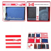 Wholesale Budweiser - Assorted Anheuser Wallets - High End - Total Assortment - 12 For $72.00