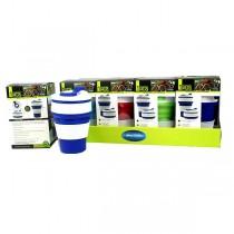 Collapsible Coffee Mugs - 12 Per Display - BPA Free - 11OZ Assorted Colors - $42.00 Per Display