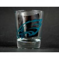 Philadelphia Eagles Shotglasses - 2OZ Classic Clear - 2-Sided - 12 For $24.00