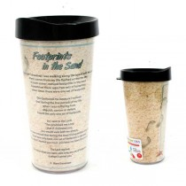 Footprints In The Sand - 16OZ Tritan Tumblers - 12 For $42.00