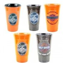 Harley Davidson Merchandise - 16OZ Assorted Tumblers - (May Not Be As Pictured) - 24 For $60.00
