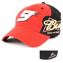 Kasey Kane #9 Budweiser Black/Red - Wholesale NASCAR Caps - $2.00 Each