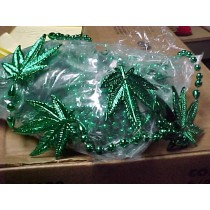 Blowout - Mardi Gras Beads - Oversized Leaf Beads - 12 Beads For $5.00