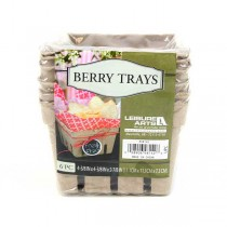 """Leisure Art Products - 6Pack Berry Trays - 4.38""""x4.38"""" - 24 6Packs For $18.00"""