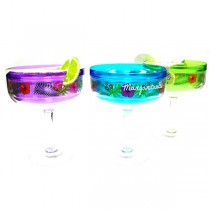 Margaritaville - Assorted Color Plastic Margarita Glasses - 12 For $30.00