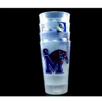 Memphis Tigers Tumblers - 4Pack 16OZ Tumbler Sets - 2 Sets For $10.00