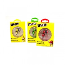 M&M Earbuds - Assorted Colors - 12 For $30.00