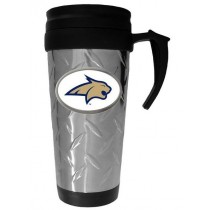 Wholesale Travel Mugs - Montana State Mugs - Diamond Plate Style - $6.50 Each