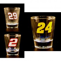 Total Blowout - Wholesale Shot Glasses - NASCAR Shot Glasses - Total Assortment - May Not Be As Pictured - 24 For $18.00