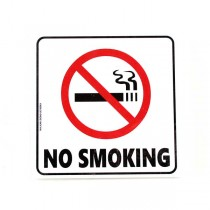"""No Smoking Signs - 6""""x6"""" Heavy Plastic Malkan Board - 4Pack Signs - 12 Packs For $30.00"""