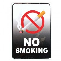 """Signs - No Smoking 7""""x10"""" Heavy Plastic Malkan Board Signs - 2 For $8.00"""