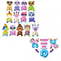 "Wholesale Plush - Reverse A Plush - 14"" Assorted Plush Which Turns Into A - Travel Pillow - 12 For $60.00"