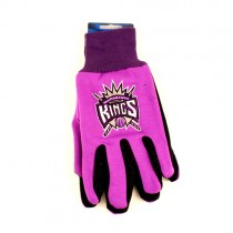Sacramento Kings Gloves - (Pattern May Be Different Than Pictured) - Purple/Black 2Tone Gloves - $3.50 Per Pair