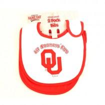 Oklahoma Sooners Merchandise - 2Pack Baby Bibs - 12 2Packs For $24.00