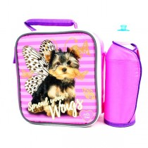 Insulated Lunch Kits - Spread Your Wings Puppy - 2 Sets For $8.00