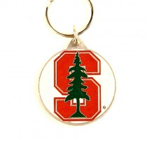 Closeout - Stanford Key Chains - Pewter Oval - 24 For $24.00