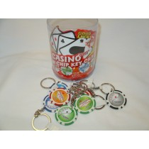 96 Count Poker Chip Keychain Display $10.00 Thats 96 Keychains For $10.00!